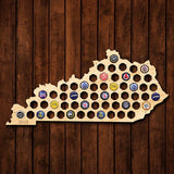 Kentucky Beer Cap Map - Large