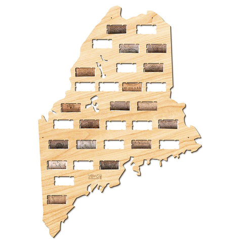 Maine Wine Cork Map
