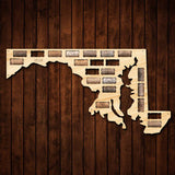 Maryland Wine Cork Map