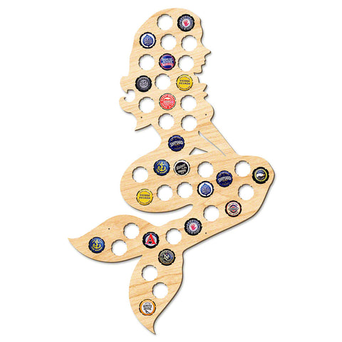 Enchanting Mermaid Beer Cap Map