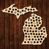 Michigan Beer Cap Map - Large