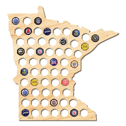Minnesota Beer Cap Map - Large