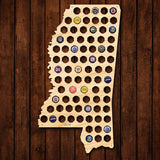 Mississippi Beer Cap Map - Large