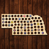 Nebraska Beer Cap Map - Large