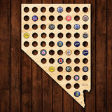 Nevada Beer Cap Map - Large