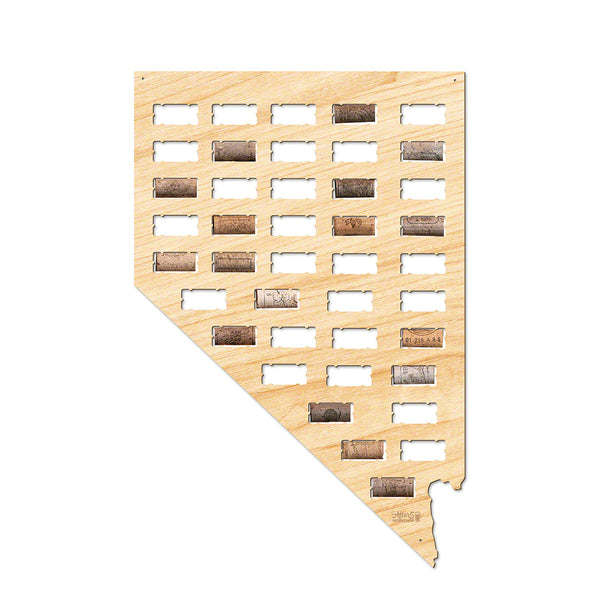 Nevada Wine Cork Map