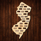 New Jersey Wine Cork Map
