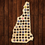 New Hampshire Beer Cap Map - Large