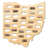Ohio Wine Cork Map