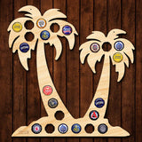 Palm Trees Beer Cap Holder
