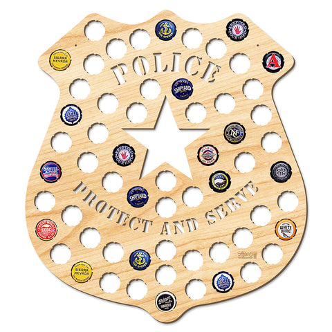 Police Badge Beer Cap Map