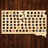South Dakota Beer Cap Map - Large