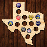 Small Texas Beer Cap Map