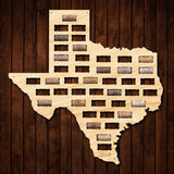 Texas Wine Cork Map