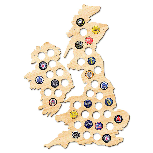Map Of England The Last Kingdom.United Kingdom Ireland Beer Cap Map