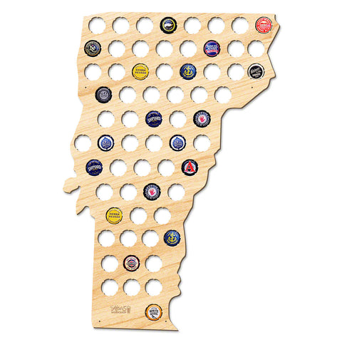 Vermont Beer Cap Map - Large
