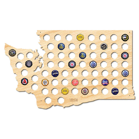 Washington Beer Cap Map - Large