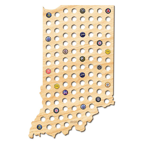 Indiana Beer Cap Map - Giant XL
