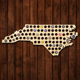 North Carolina Beer Cap Map - Giant XL