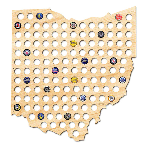 Ohio Beer Cap Map - Giant XL