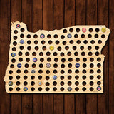 Oregon Beer Cap Map - Giant XL