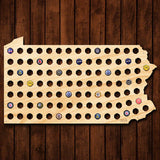 Pennsylvania Beer Cap Map - Giant XL