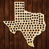 Texas Beer Cap Map - Giant XL