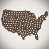 Beer Cap Map of USA - Giant XL
