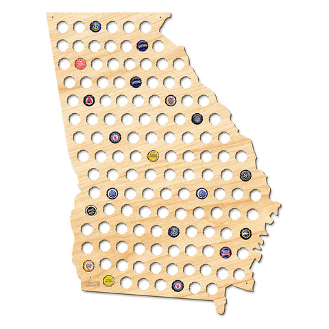 Georgia Beer Cap Map - Giant XL