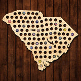 South Carolina Beer Cap Map - Giant XL
