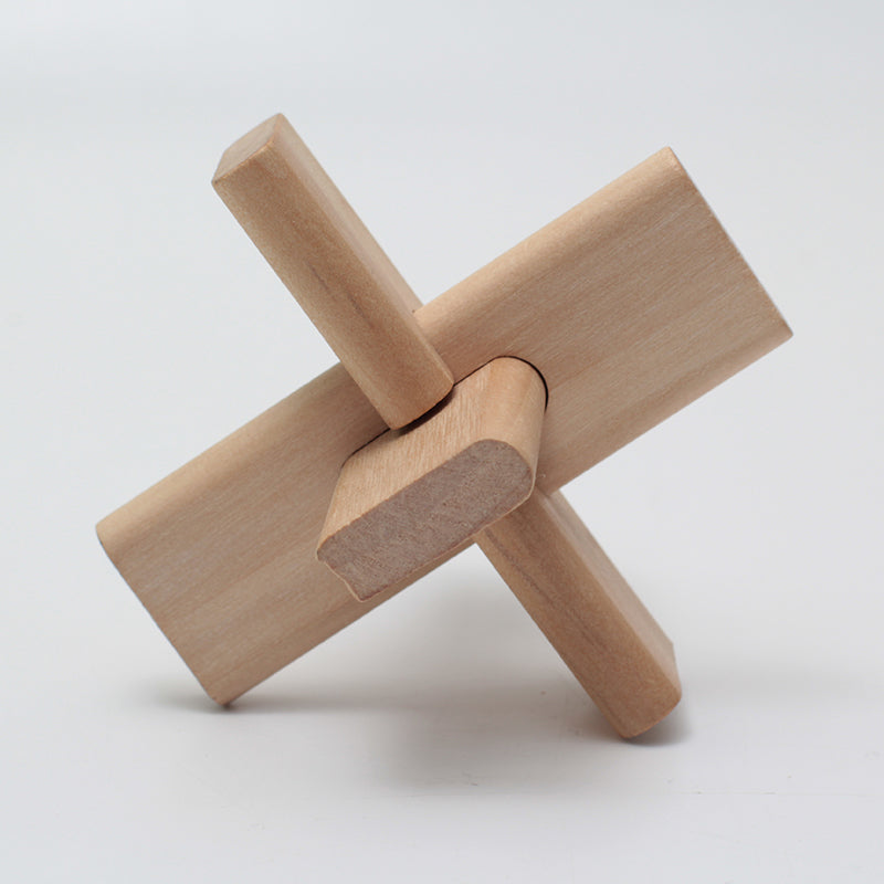 3 connection wooden puzzle