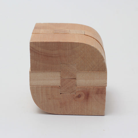 Leaf Shape Lock wooden puzzle