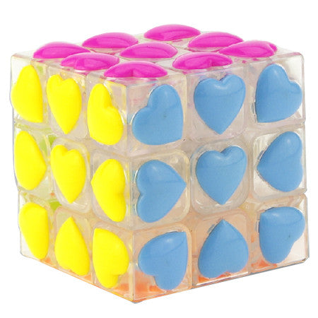 YJ Heart tiled 3x3x3 (transparente)