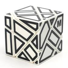 Ninja 3x3 Ghost Cube con M stickers (blanco)