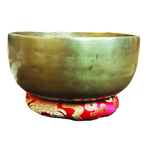 C018 Antique Himalayan Handbeaten Singing Bowl (G & C) Throat and Root Chakra 0.572kg 6.5in