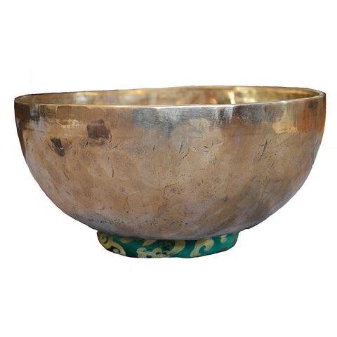 C007 New Himalayan Jambati Handbeaten Singing Bowl (G & C) Throat & Root Chakra 2.47kg 11in