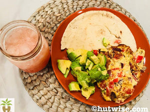 Eggs, Avocado with Grapefruit Juice