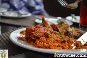Jollof rice with chicken