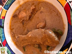 Fufu with Peanut Soup