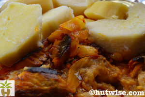 Boiled Yam and Garden Egg Stew