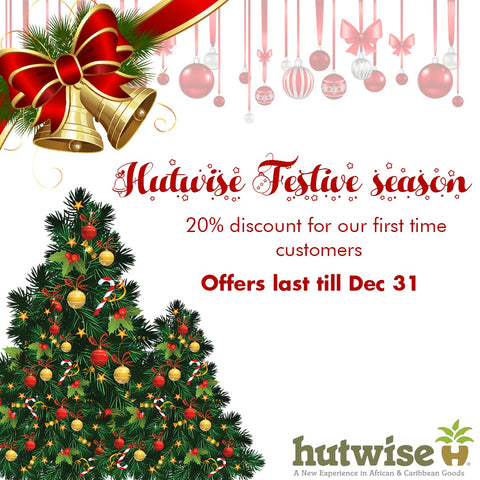 Hutwise African Online food store Christmas promotion for first time customers