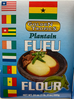 Golden Tropics Plantain Fufu - 24 oz