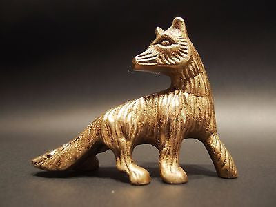 Antique Vintage Style SOLID BRASS FOX Paperweight - Early Home Decor