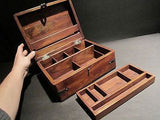 19th C Antique Vintage Style Document Travel Writing Wood Desk Box Scribe - Early Home Decor