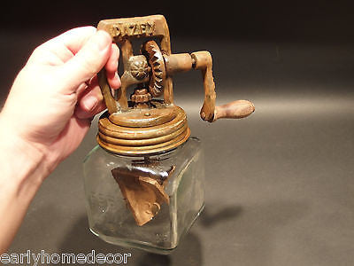 Antique Vintage Style Cast Iron #5 Dazey Butter Churn w Glass SIGNED - Early Home Decor
