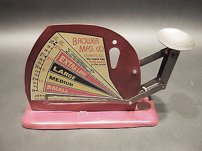 Vintage Style Brower Mfg. Quincy, Ill. Jiffy Way Egg Scale