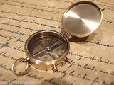 "Vintage Antique Style 2"" Brass Heavy Maritime Navigational Compass - Early Home Decor"