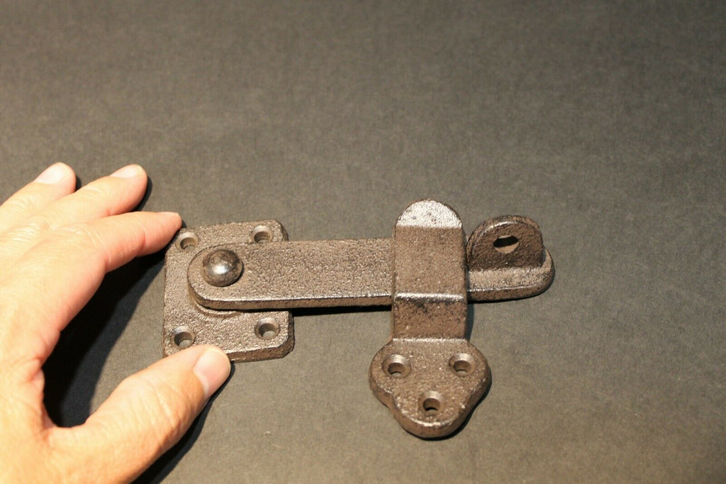 Antique Vintage Style Cast Iron Door Gate Lock Latch Hardware - Early Home Decor