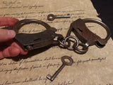 Antique Vintage Style Wrought Iron Handmade Handcuffs Shackles - Early Home Decor