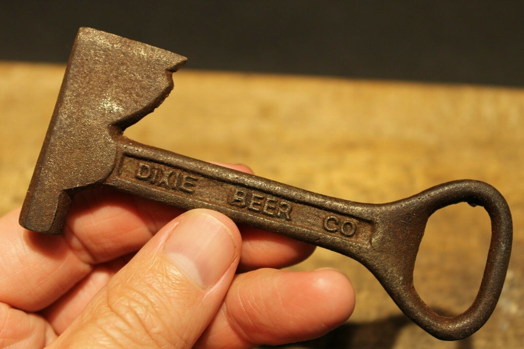 Antique Vintage Style Cast Iron Dixie Beer Bottle Opener Fireman Axe Hatchet - Early Home Decor